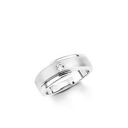 Amor Damen-Ring 925 Silber rhodiniert Zirkonia weiß Gr. 58 (18.5) - 106474 - 1