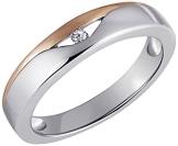 Goldmaid Damen-Ring  925 Sterlingsilber rot vergoldet 1 Zirkonia Gr. 52 Zi R4260S52 - 1
