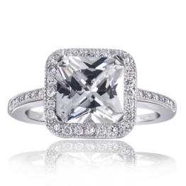 Goldmaid Damen-Ring Glamour 925 Sterlingsilber 27 Zirkonia Gr. 50 Zi R3338S50 - 1