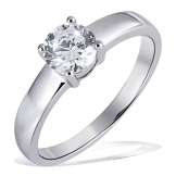 Goldmaid Damen-Ring Solitär 925 Sterlingsilber 1 grosser Zirkonia Gr. 54 (17.2) Zi R4780S54 - 1