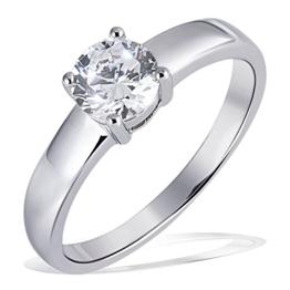 Goldmaid Damen-Ring Solitär 925 Sterlingsilber 1 grosser Zirkonia Gr. 58 (18.5) Zi R4780S58 - 1