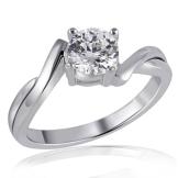 Goldmaid Damen-Ring Solitär 925 Sterlingsilber 1 Zirkonia Gr. 56 Zi R5304S56 - 1