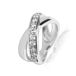 Rafaela Donata Damen-Ring Classic Collection 925 Sterling Silber Zirkonia weiß Gr. 56 60800241 - 1