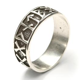 Runen Ring 925 Silber Silberring Damenring Herrenring Motiv Runen Gr 56 - 1