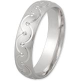 Schmuck-Pur 925/- Silber Damen-Ring strukturiert rhodiniert YSD458 mit Gravur (Größe 64) - 1