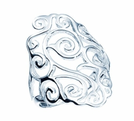 TF breiter, verzierter Barock-Ring, Sterling-Silber 925 Größe 54 (17.2) - Damen - 1