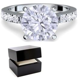 * Verlobungsringe mit Zirkonia Stein *+ LUXUSETUI! Verlobungsring Heiratsantrag Idee Antrag Hochzeit Idee Silberring Ring Silber 925 Zirkonia wie Diamant Diamantring Damenring - AM289 SS925ZIFAZIFA52 - 1