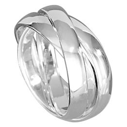 VINANI Damen 3er-Ring Silber 925 rund Gr: 56 R3R56 - 1