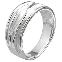 Vinani Damen-Ring Baum sandgestrahlt glänzend Sterling Silber 925 Größe 62 (19.7) RER62 - 1