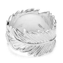 Vinani Damen-Ring Feder Arizona Sterling Silber 925 Größe 62 (19.7) RFE62 - 1