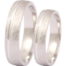 Zwei elegante Silberringe (925 Sterling), Verlobungsringe, Eheringe mit Gratis Gravur - 1